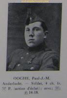 Oud-strijder/vuurkruiser Paul Ooghe 1899-2001