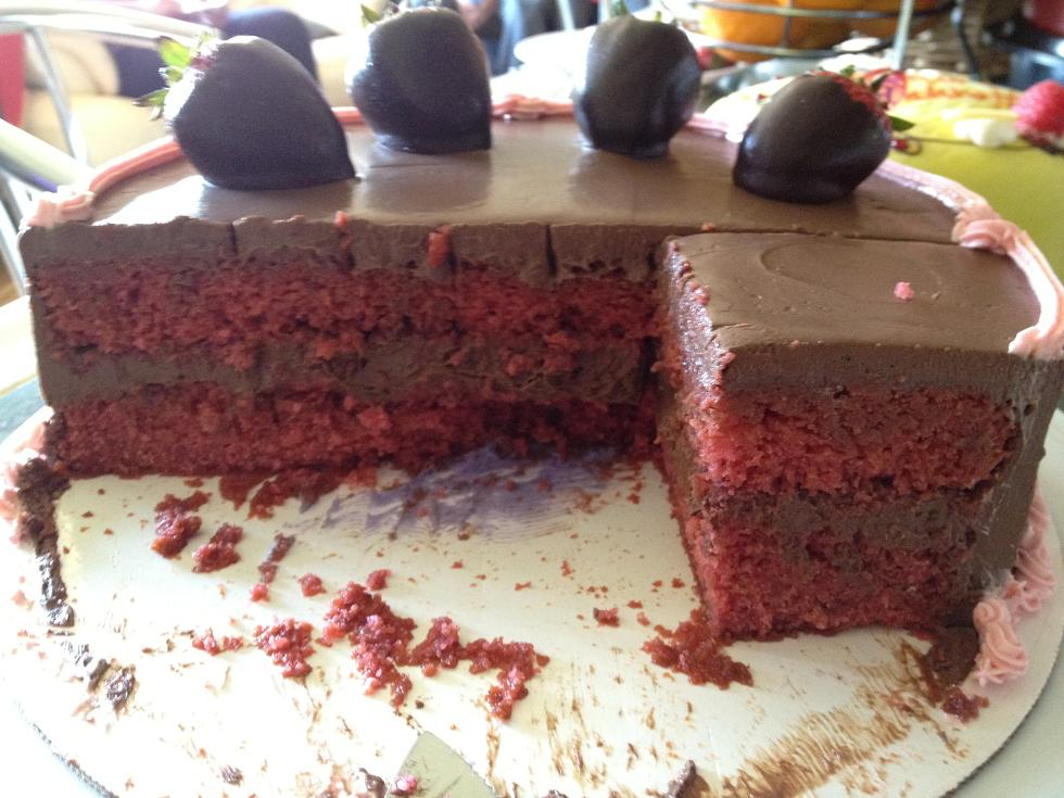 Mother's Day 2012: Gluten-Free Vegan Chocolate Covered Strawberry Cake