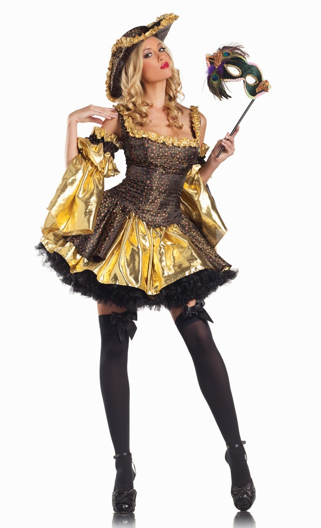 Women's 4 Piece Black Antoinette Costume