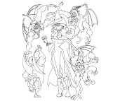 #1 Oz The Great And Powerful Coloring Page