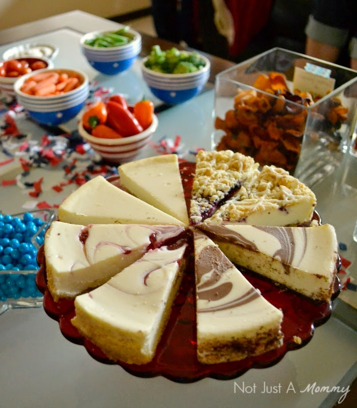 It's Hip to be Square with Chinet® House Party GNO cheesecake