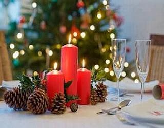 Centros de Mesa de Navidad con Velas, parte 3