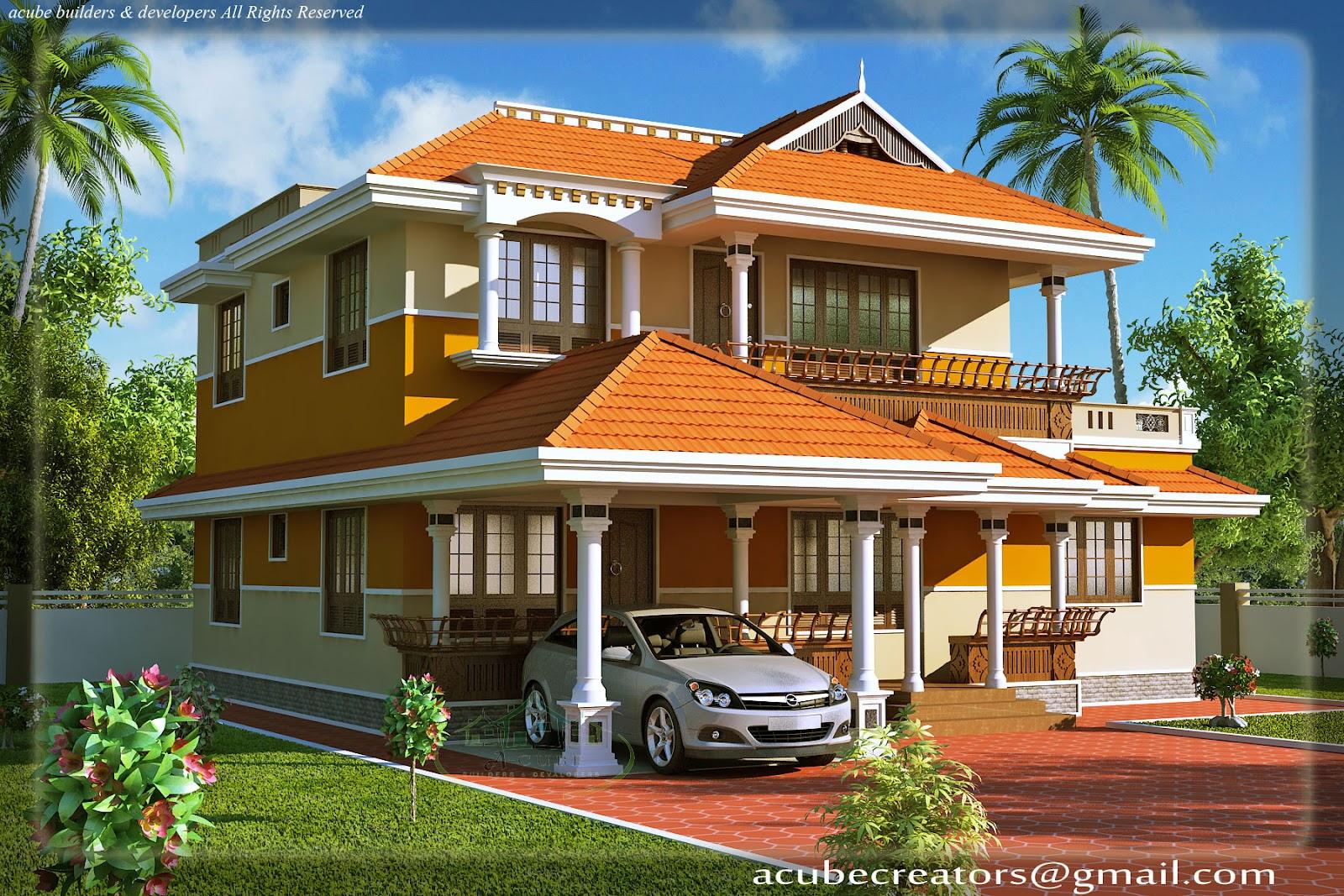 Keralahousedesigns acube builders developers elevation for Home designs kerala plans
