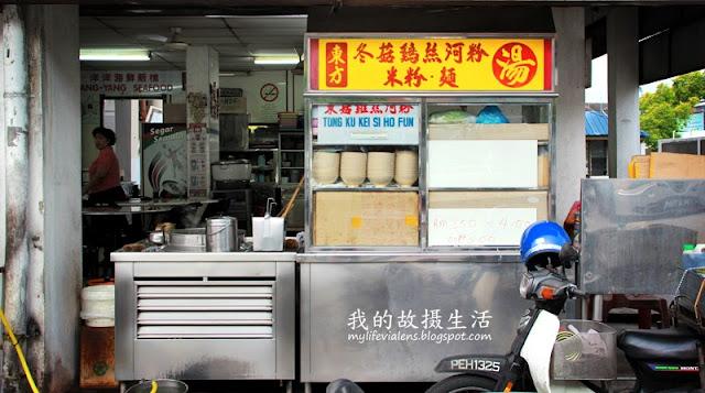 冬菇鸡丝河粉汤