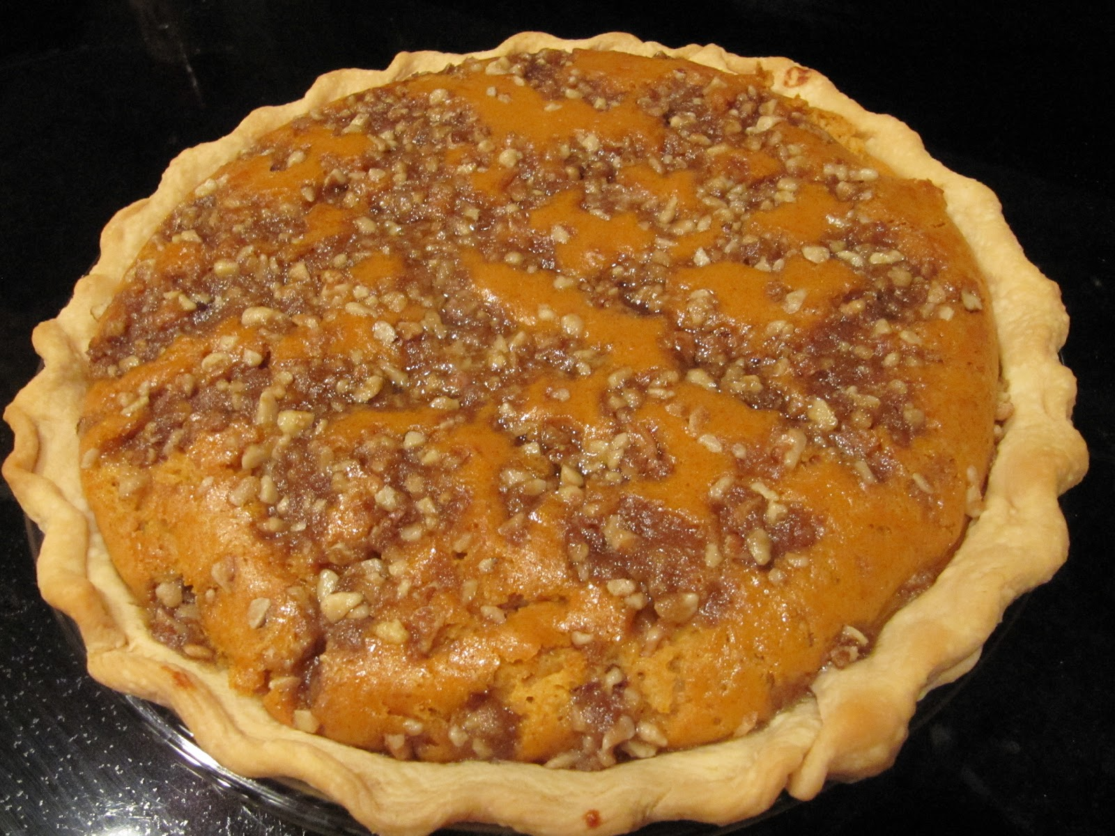 Maple Walnut Pumpkin Pie Recipe — Dishmaps