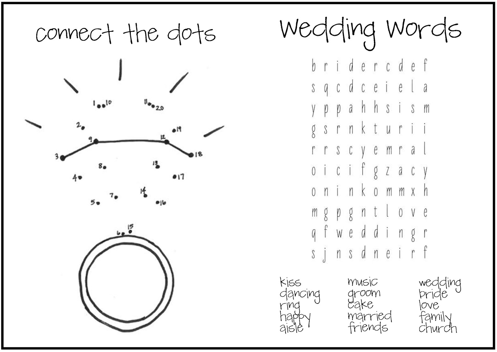 Free Coloring Pages Of Wedding Activity