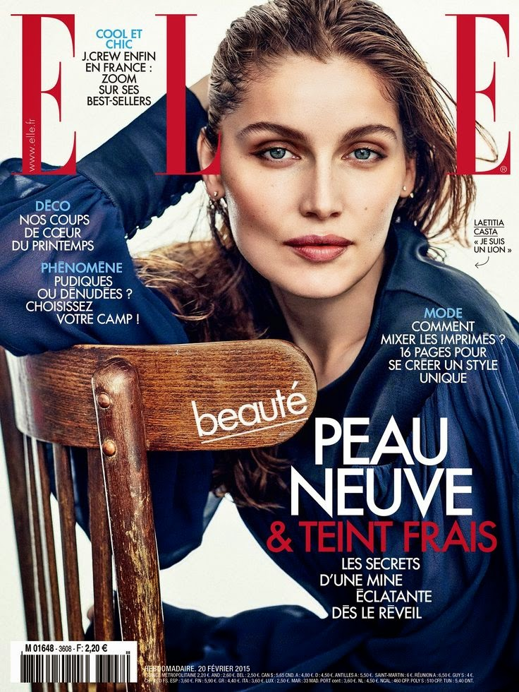 SuperModel , Actress Laetitia Casta - Elle France February 2015