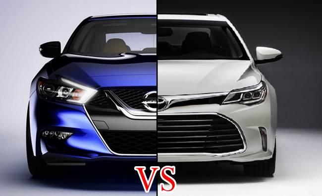 Hot's Face 2016 Toyota Avalon vs 2016 Nissan Maxima