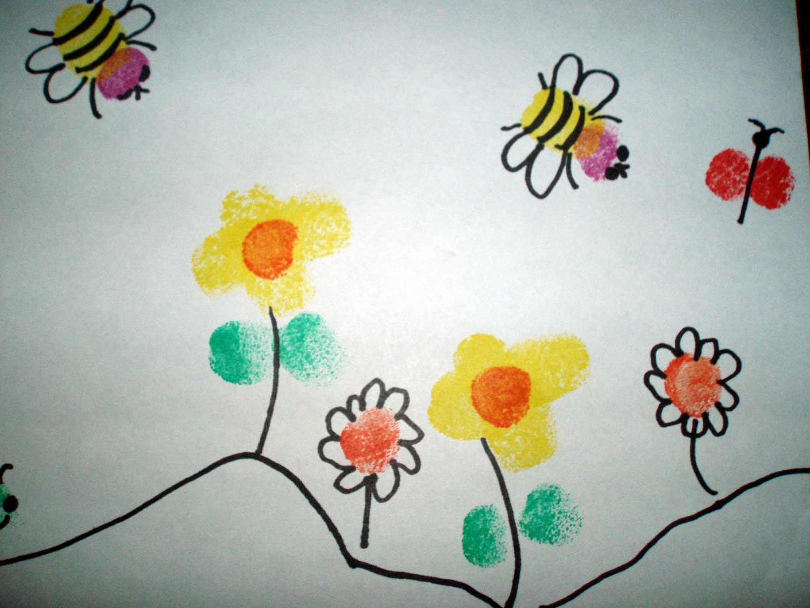 Flower paintings for kids crafts from kids tend to hold