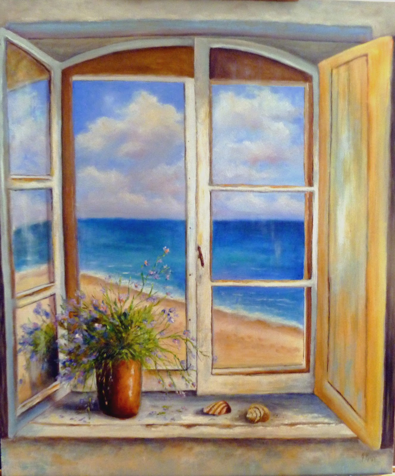 an artist 39 s journey On window painting