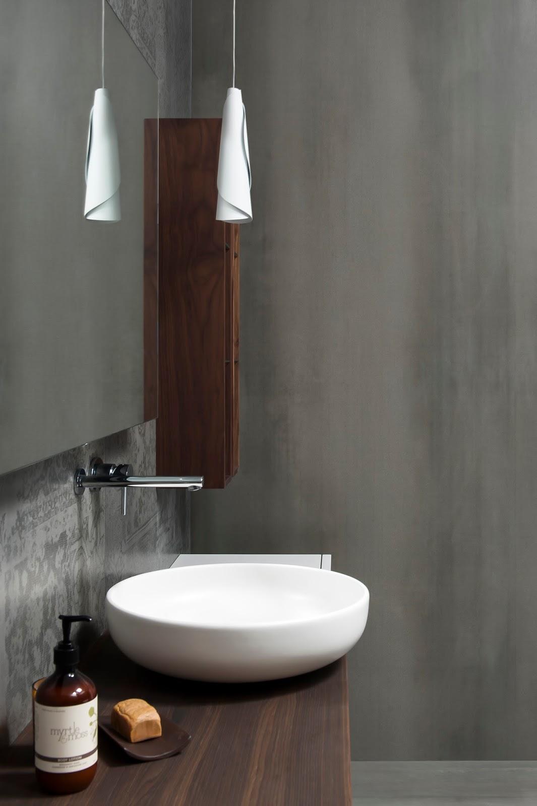 Minosa Main Bathroom Meets Powder Room With Stunning Result