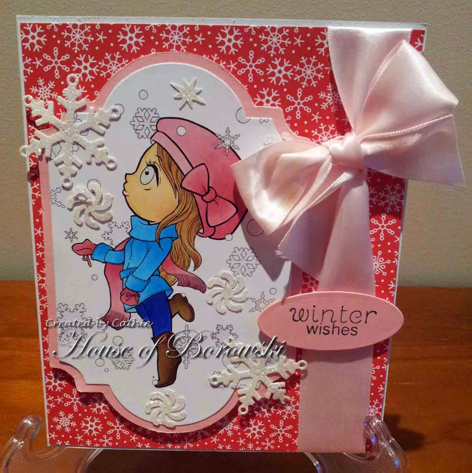 Diecut Divas, Art by Miran Girl with Snowflake,