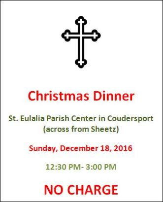 12-18 Christmas Dinner St. Eulalia Parish