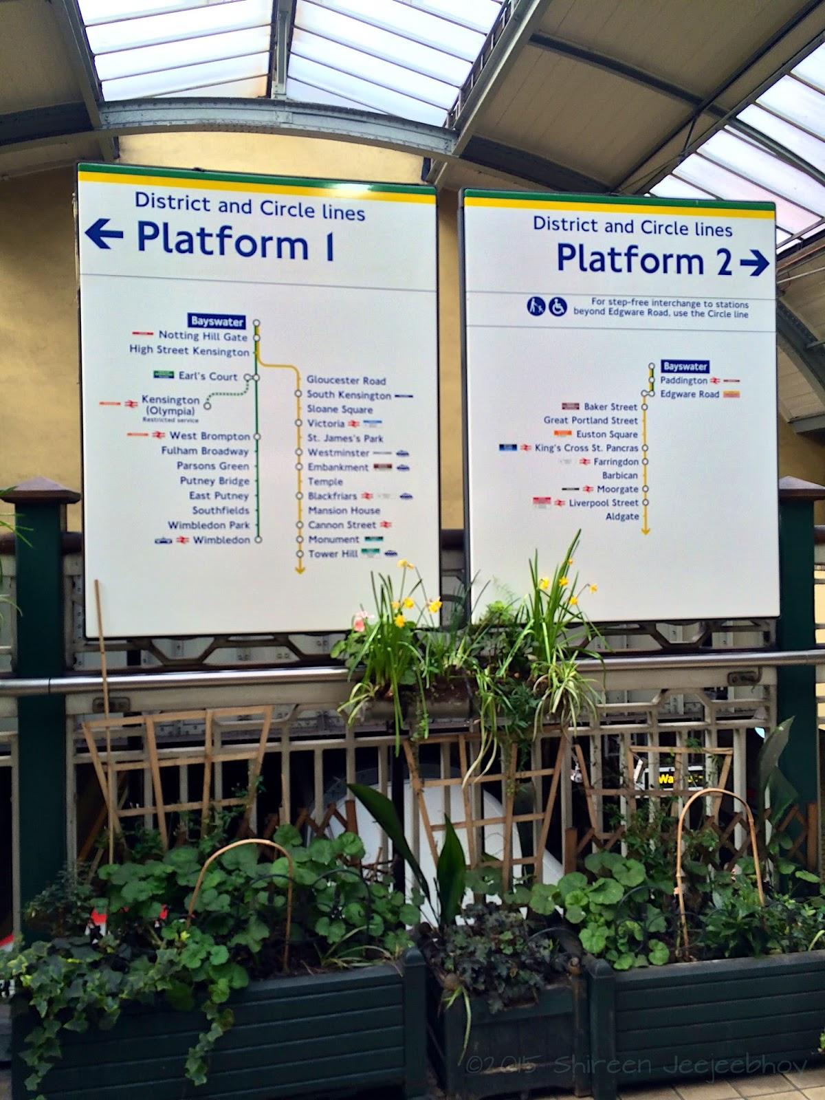 Bayswater Platform Signs
