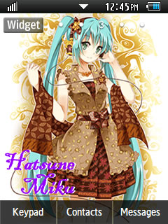 Anime Hatsune Miku Samsung Corby 2 Theme 2 Wallpaper