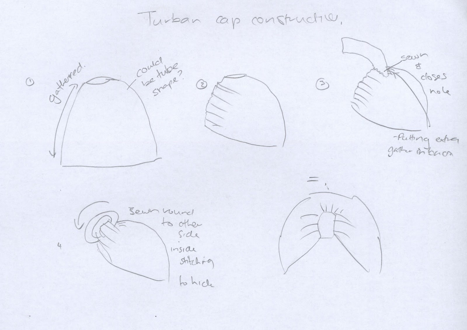 how to make a 1920s turban