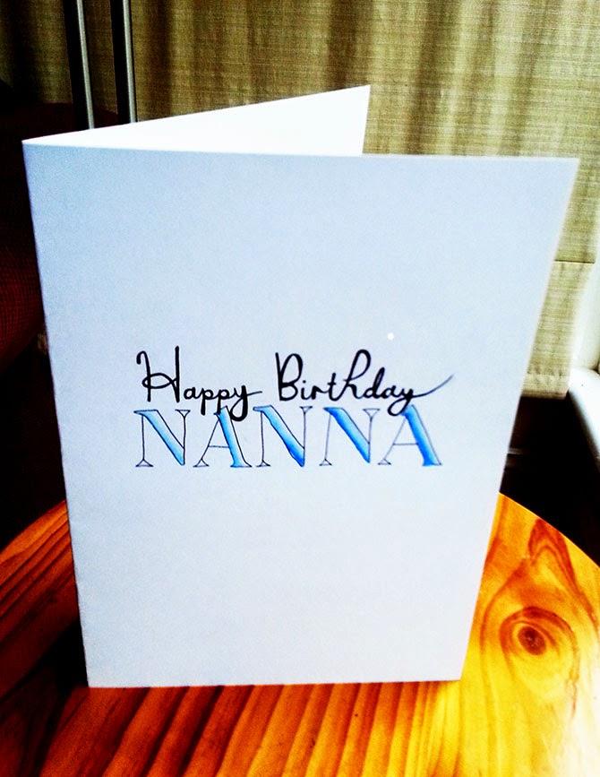 Easy Typography Birthday Cards Diy Faith In Fools