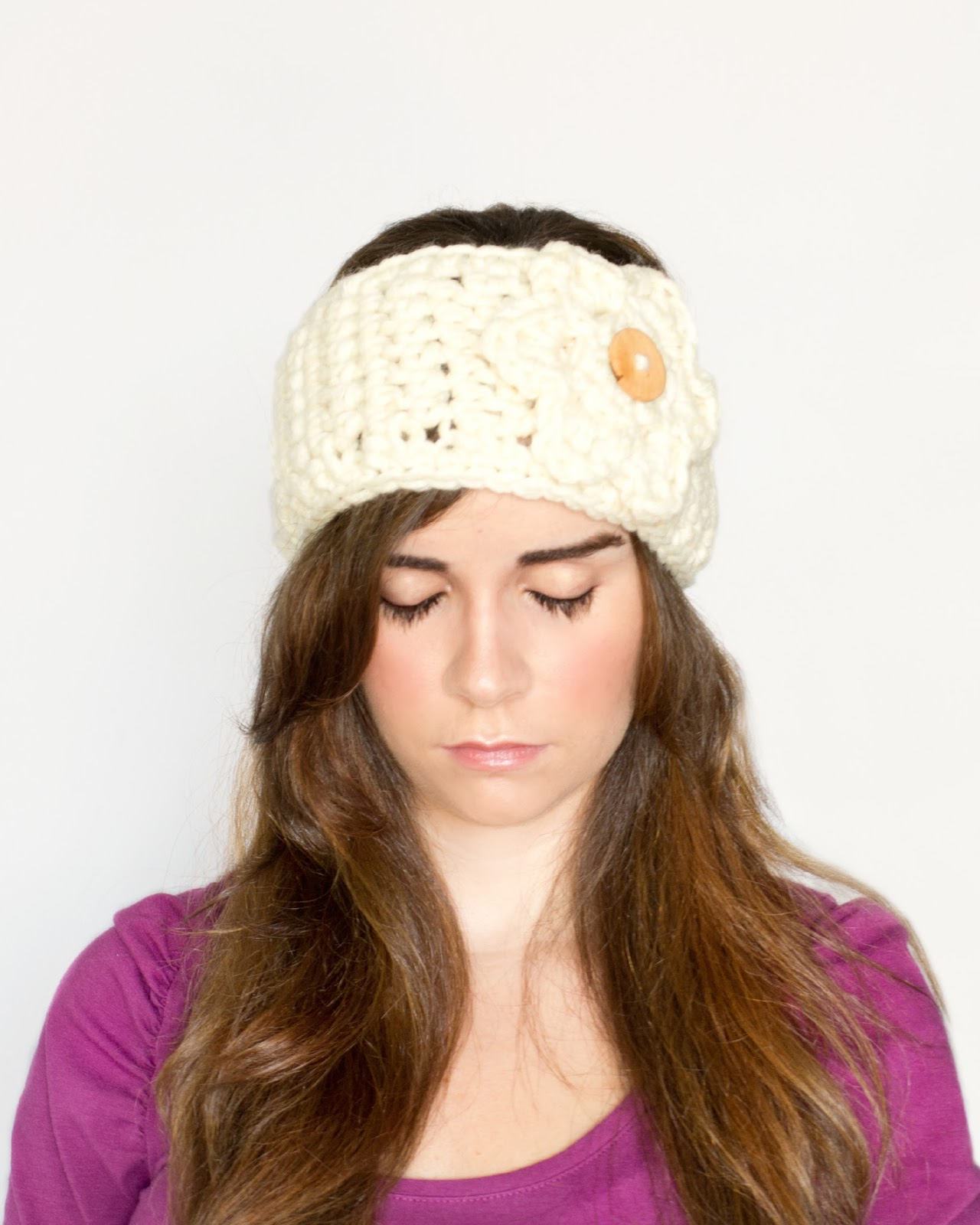Crochet Ear Warmer Pattern Bulky Yarn : Hopeful Honey Craft, Crochet, Create: Charmfully Chunky ...