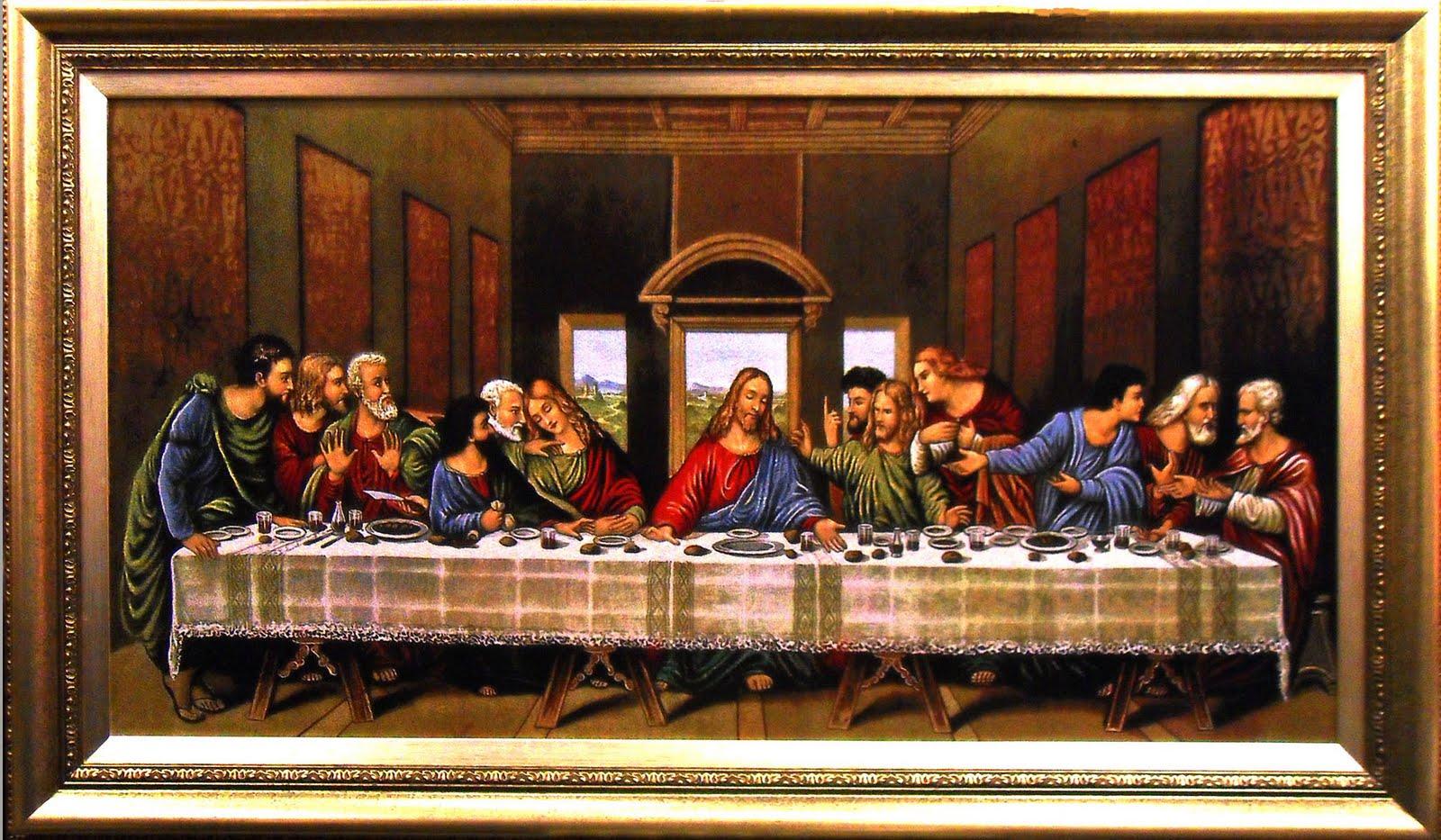 last suppertapestry art frame