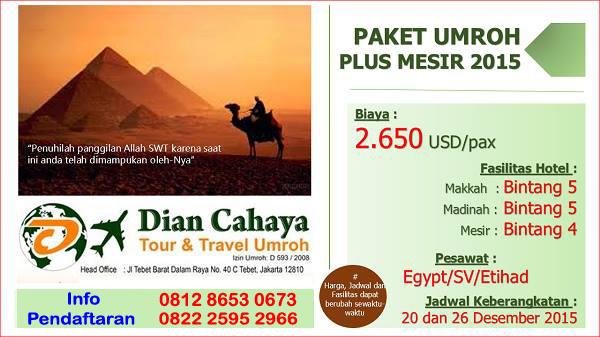 Paket Umroh plus Mesir 2015