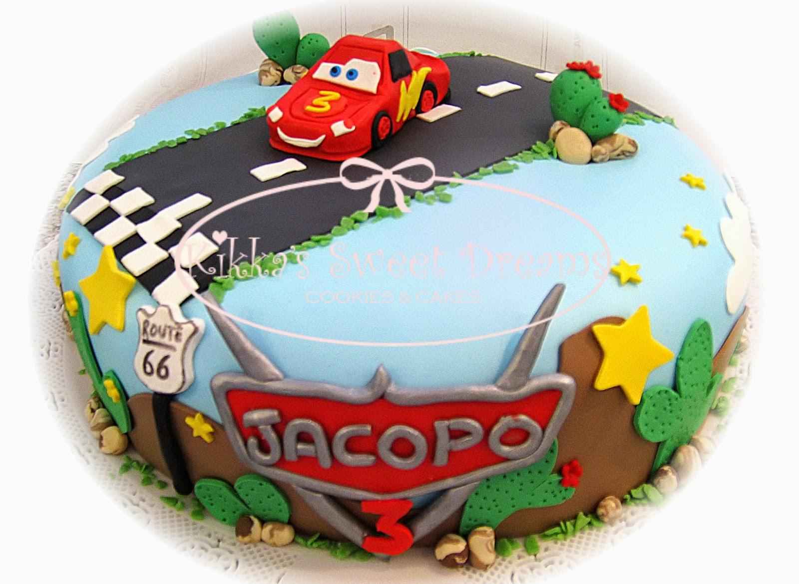Kikka s Sweet Dreams: Torta con Saetta McQueen di Cars
