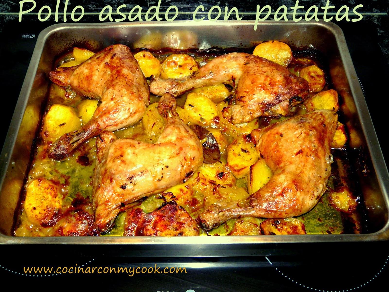 Cocinar con mycook pollo asado con patatas for Formas de cocinar pollo