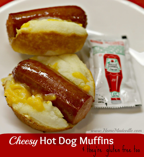 Hot Dog Muffins with Cheese