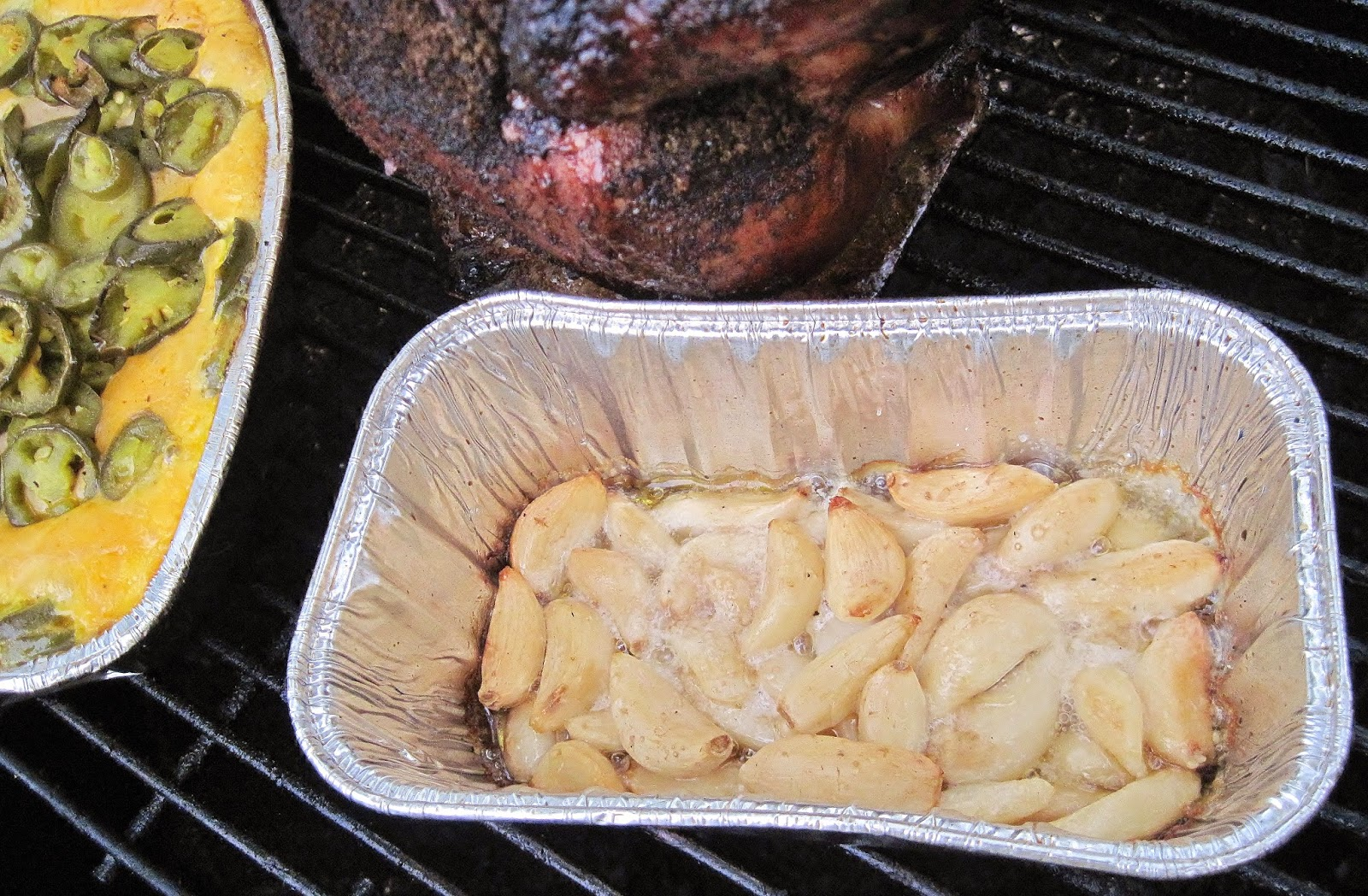 how to roast garlic on a BBQ smoker