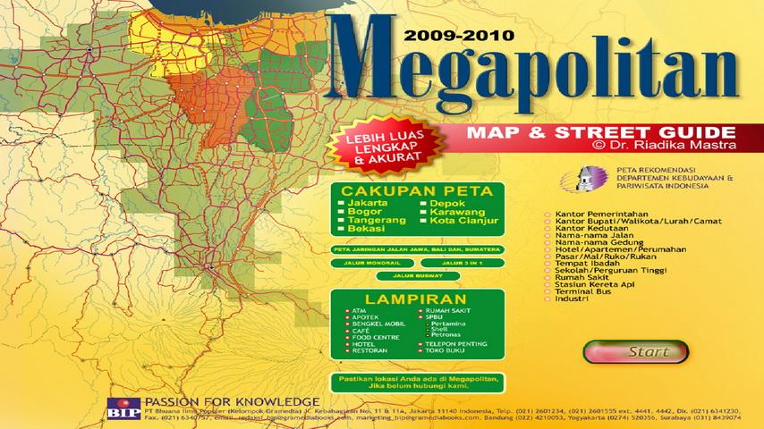 teguh suroso peta digital megapolitan jakarta dan jabodetabek