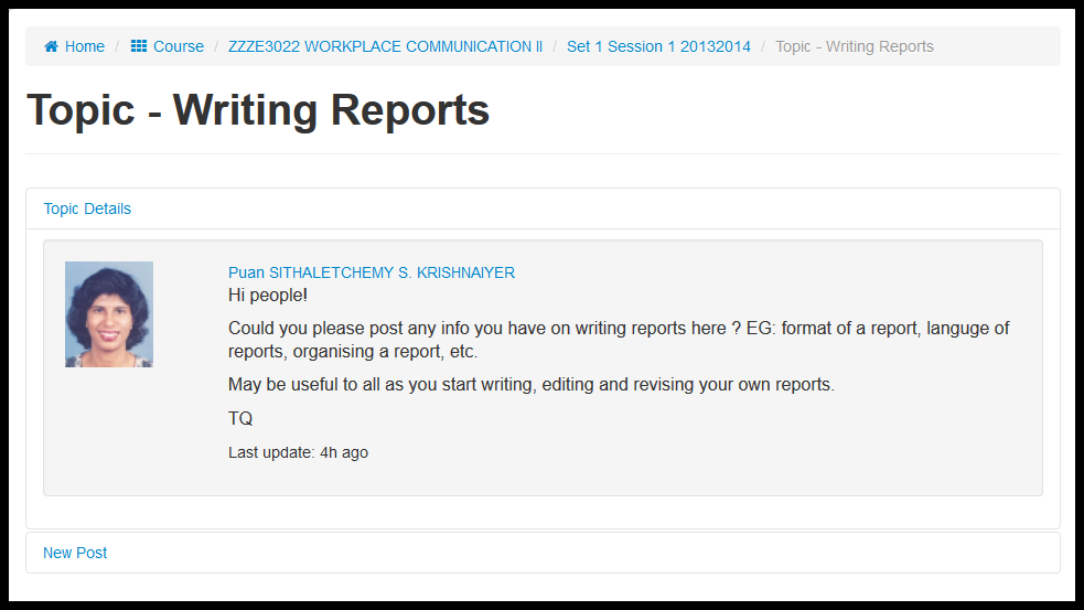 How to write good status reports