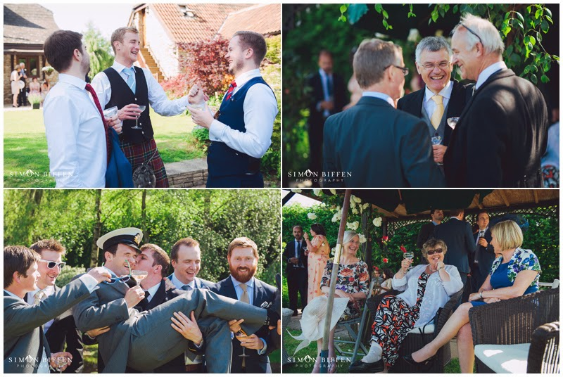 Wedding photography at reception in somerset