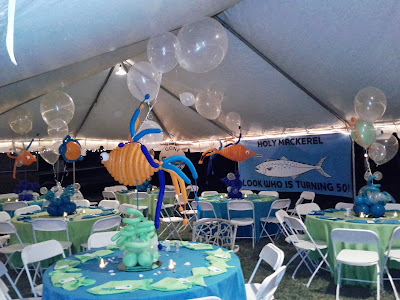 Dreamark events blog under the ocean themed event for Outdoor party tent decorating ideas