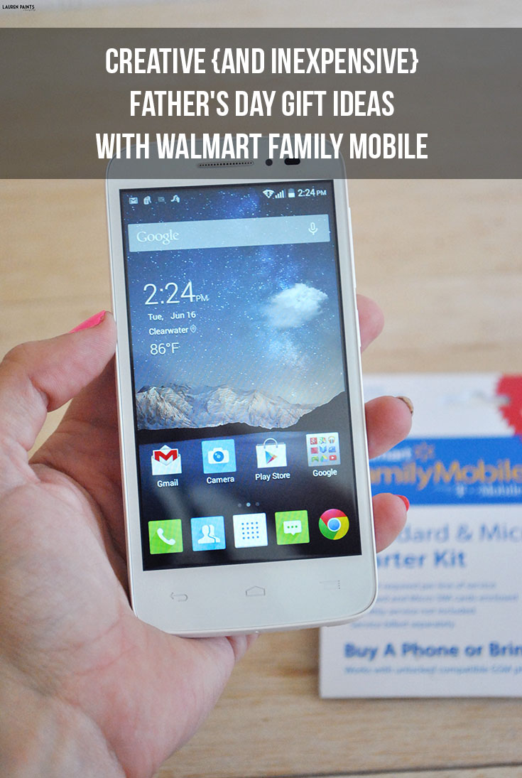 Creative {and Inexpensive} Father's Day Gift Ideas with Walmart Family Mobile
