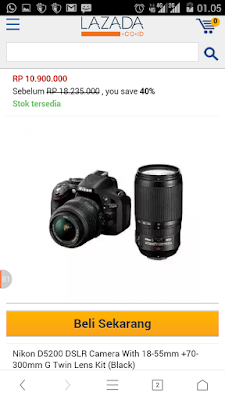 http://www.lazada.co.id/nikon-d5200-dslr-camera-with-18-55mm-70-300mm-g-twin-lens-kit-black-1504544.html