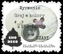 Eko Deco Graj w kolory - szary