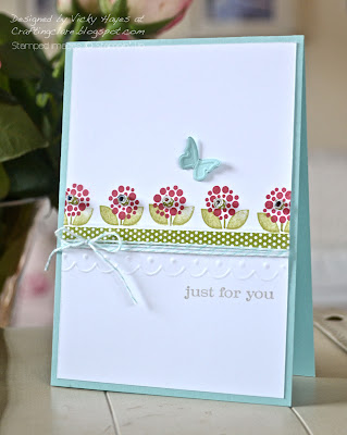 Card using Bright Blossoms from Stampin' Up