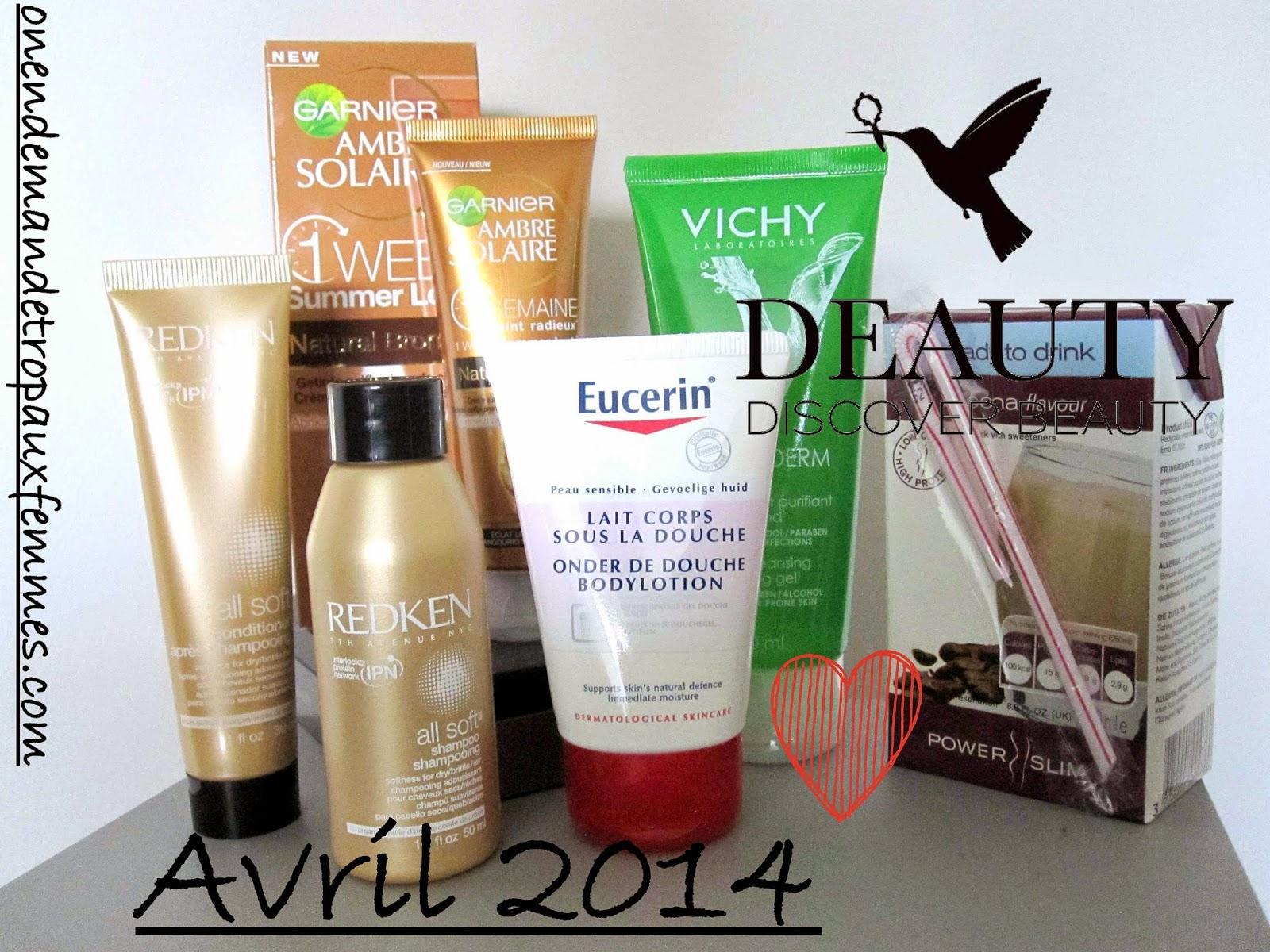 revue produits de la deauty box avril 2014