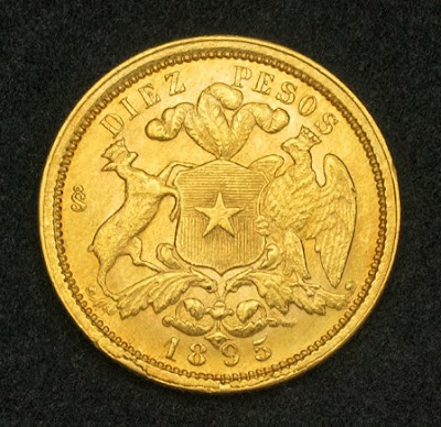 Chile 10 Pesos Gold Coin