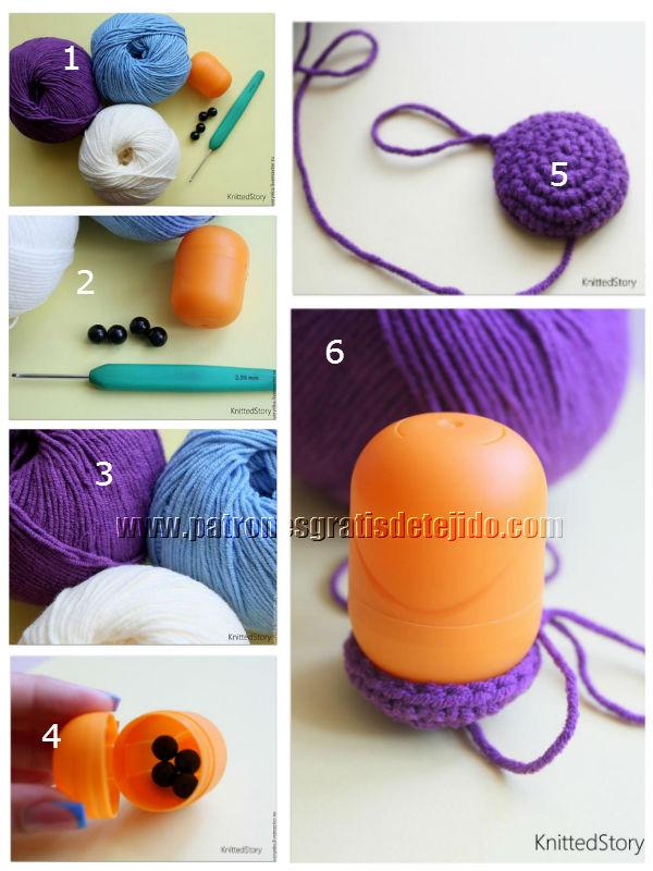 Paso a paso buho lana crochet materiales