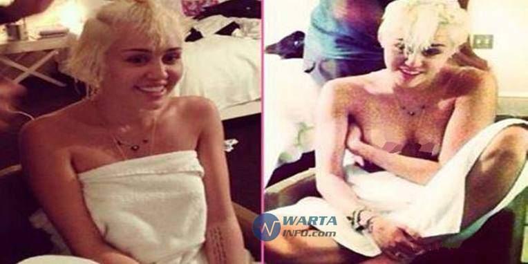 foto Hot seksi topless miley cyrus artis penyanyi hollywood di instagram
