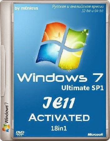 Download Microsoft Windows 7 SP1  - 18in1 - Activated