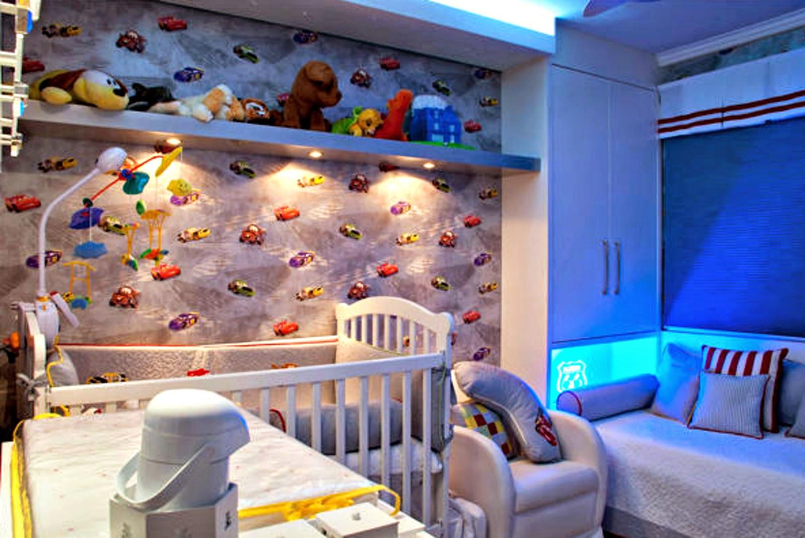 Decoração carros para quarto de bebês meninos