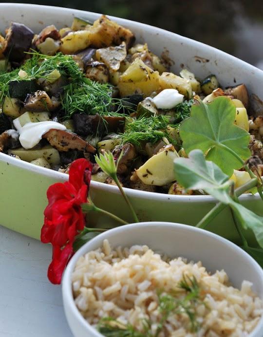 Sezonowe warzywa z cząbrem