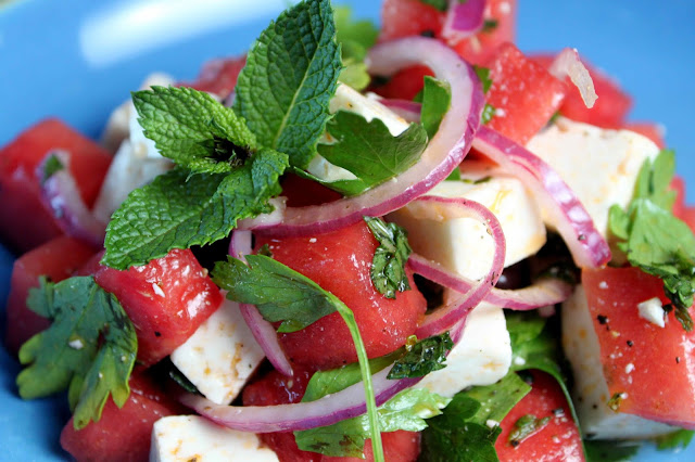 Healthy Recipe: WATERMELON SALAD WITH FETA AND MINT