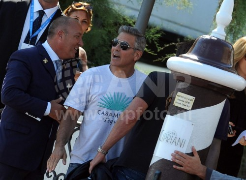 George Clooney arrives in Venice 24414926