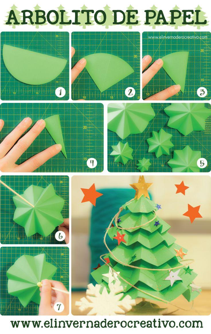 Sgblogosfera mar a jos arg eso manualidades navide as - Arbol de navidad de origami ...