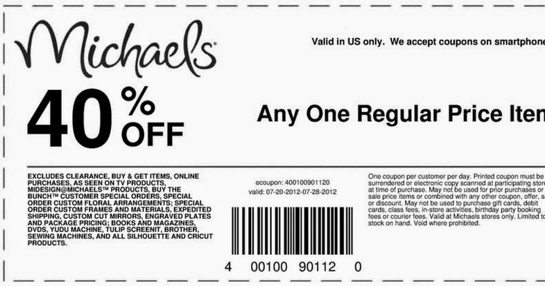 Michaels Printable Coupons Nov 2014