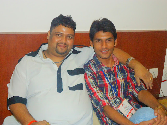 Anshu Dikshant with Bhojpuri Music Director Dhananjay Mishra