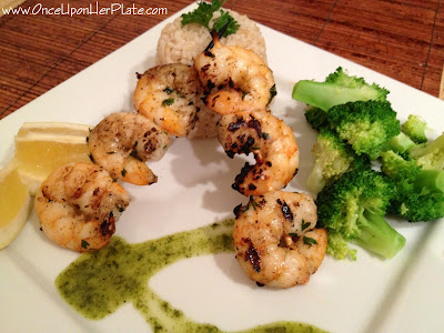 ... : Lemon and Garlic Shrimp Skewers with Cilantro Lime Dipping Sauce