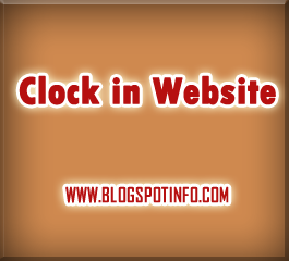 Free javascript code:Clock in your website